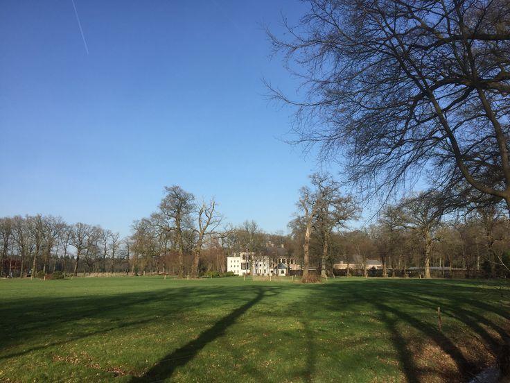 2017-03-15 Blik op kasteel Schoonheten vanaf de westzijde