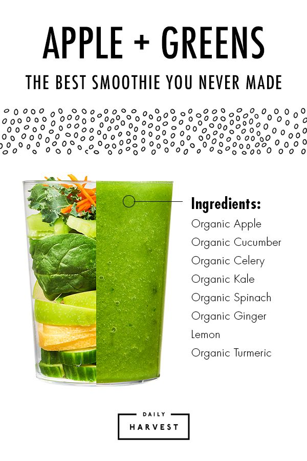 Get your daily dose of drinkable goodness from Daily Harvest. Choose from 14 flavors that were developed by a nutritionist and made craveable by a chef. Then, schedule your delivery and store your smoothies in the freezer. When you're ready for one, just add your liquid base and blend without prep or mess. Put together your smoothie menu today!