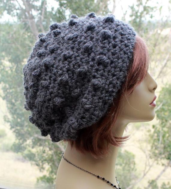 Newsboy Alpaca Hat Crocheted Newsboy Hat Slouch Hat Hat with Bill Alpaca Hat