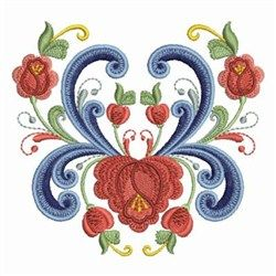 Rosemaling Roses embroidery design