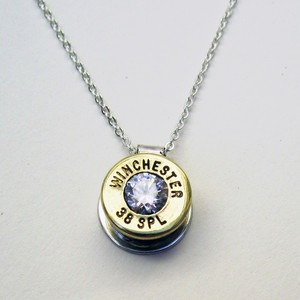 How cool is this? Matching earrings too! 38 Special Necklace Crystal now featured on Fab.