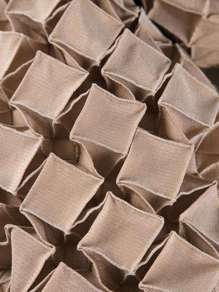 Fabric Manipulation - origami textiles design with folded structure & 3D textures; geometric fashion detail // Issey Miyake