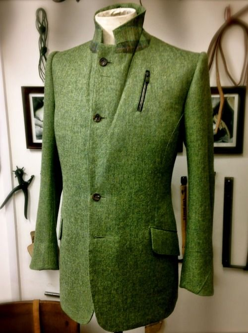 Gieves & Hawkes bespoke Cheviot tweed jacket