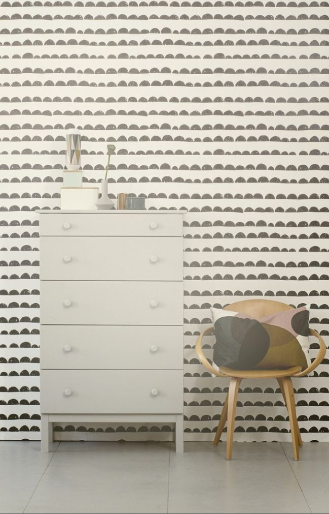 half moon wallpaper. ferm living.