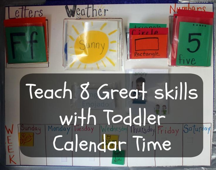 Toddler Calendar time, a great time for toddlers to learn about the calendar and other important skills