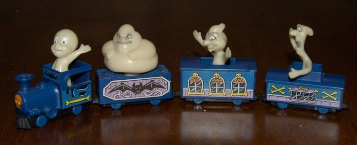 Complete 8 PC Casper Ghost Train Glow in The Dark Toy from Jack in The Box 1998   eBay