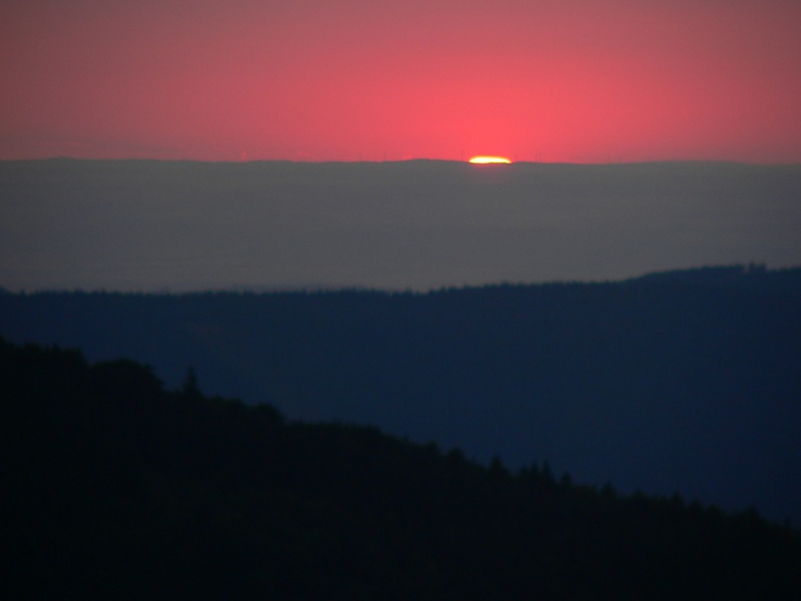 Sunset seen from Pustevny