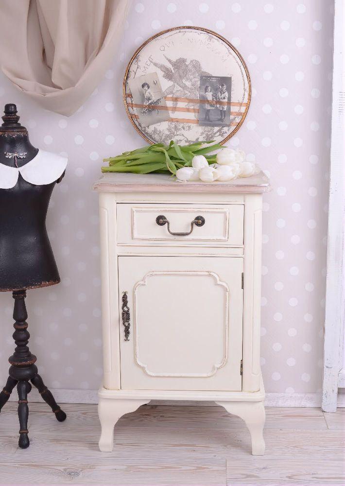 Großartig Nachttisch Vintage Nachtschränkchen Nachtschrank Shabby Chic. Kommode  LandhausstilWeissSchlafzimmerConvenientKnows