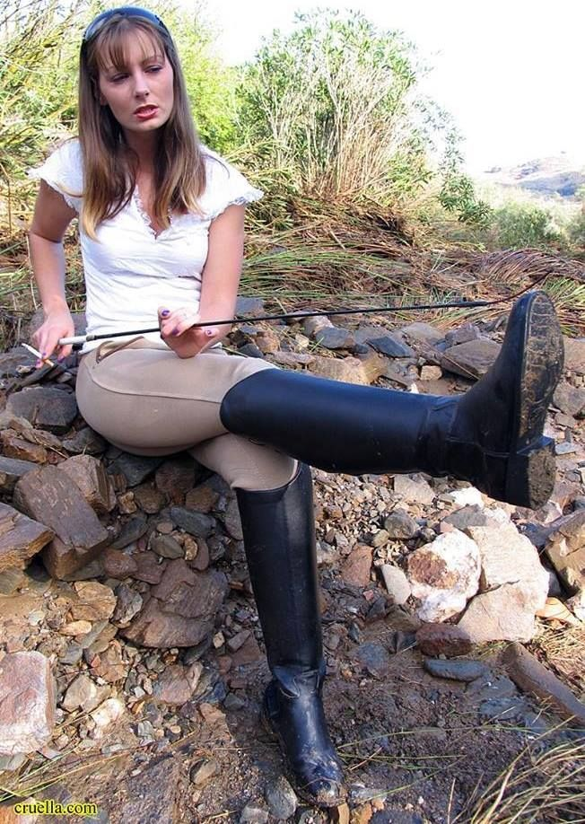 naked girls long riding boots