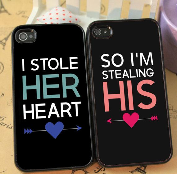 I Stole Her Heart So Im Stealing His Cute Couple phone case for iphone 4/4s 5/5s Galaxy s3 s4 s5