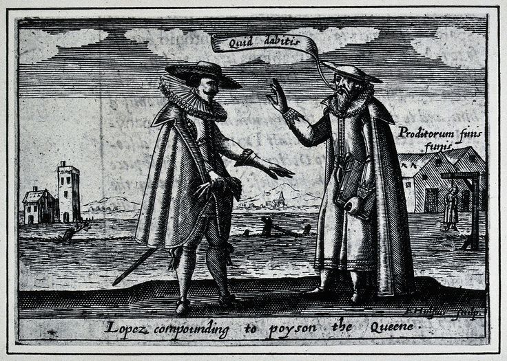 Roderigo Lopez (also called Ruy Lopes, Ruy Lopez or Roger Lopez; c. 1517 – 7 June 1594) served as physician-in-chief to Queen Elizabeth I of England from 1581 until his death by execution, having been found guilty of plotting to poison her.