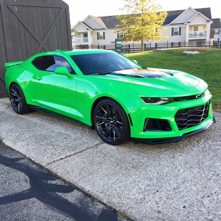 Chevrolet Camaro ZL1 Painted In Krypton Green Photo Taken