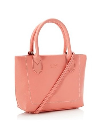 Coral Luxury Grained Leather Grab Bag by O.S.P OSPREY