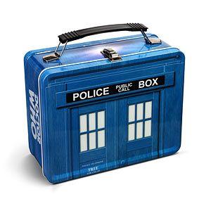 ThinkGeek :: Doctor Who TARDIS Lunch Box