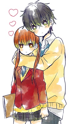 Shizuku & Haru, Tonari no Kaibutsu-kun. Haru looks a lot like Konoha from KagePro in this