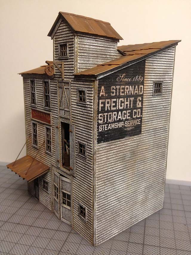Railroad line forums fos scale models red hook wharf for Models of homes to build