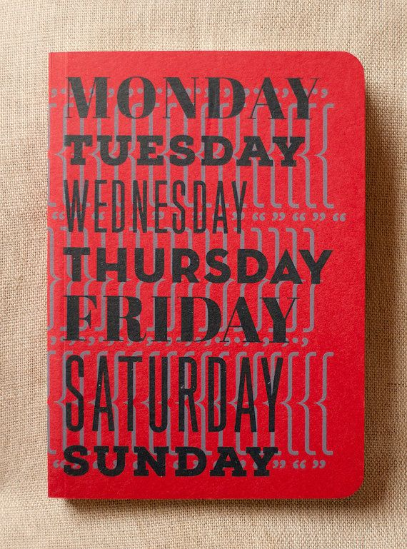 Notebook for your weeks