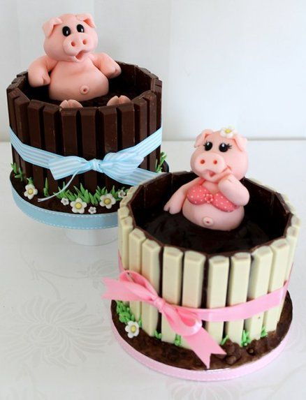 Pigs in mud cup cakes                                                                                                                                                     More
