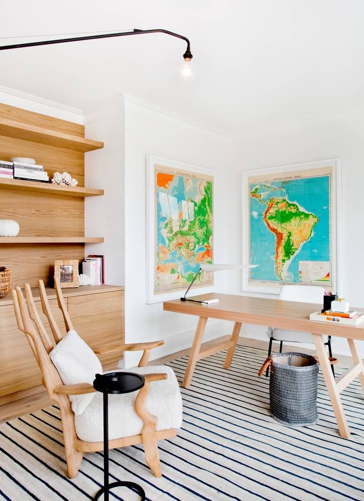 Scandinavian vibes in this stunning home office designed by tamara magel