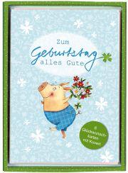 Glückwunsch-Karten 6er Set: Alles Gute! zum #Geburtstag, für #Oma, die beste #Freundin, #Mama ... gestaltet von der tollen Illustratorin Katja Jäger