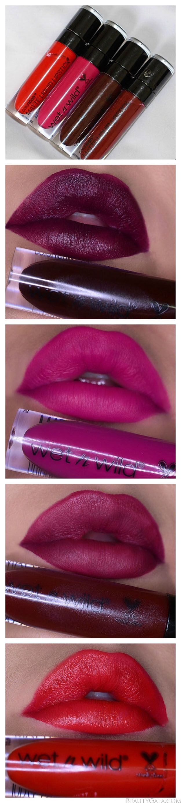 Autumn Lush // Wet n Wild Fall 2016 Matte Liquid Lipstick Swatches and Review