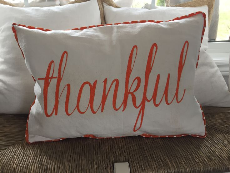 Fall Thankful throw pillow