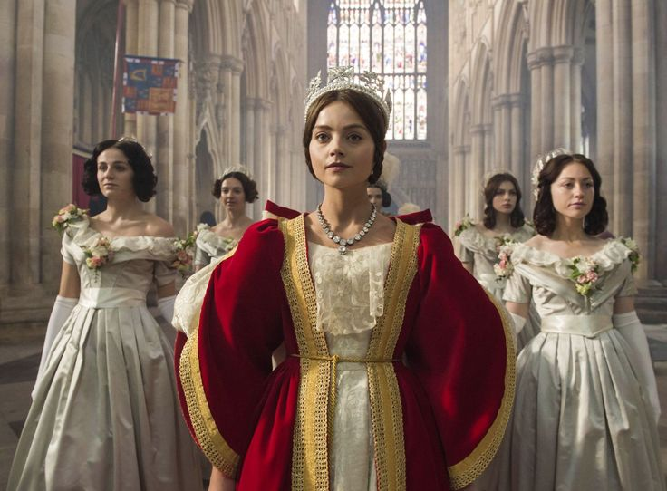 Jenna Coleman as Queen Victoria 'Victoria' TV show - 2016 - Photo by…