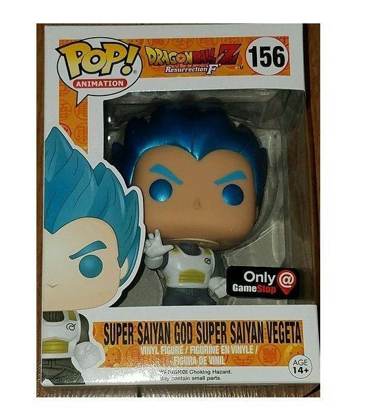 FUNKO POP Super Saiyan God Vegeta DragonBall Z Metallic Blue Hair GAMESTOP EXCLb