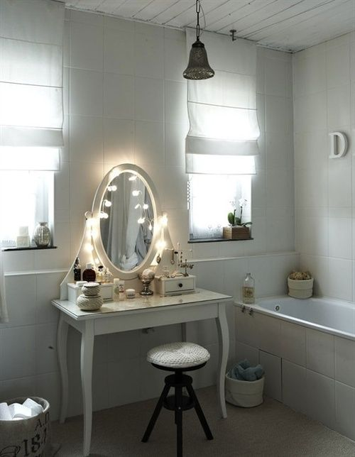 girly bathroom inspiration (via Inspired by IKEA)
