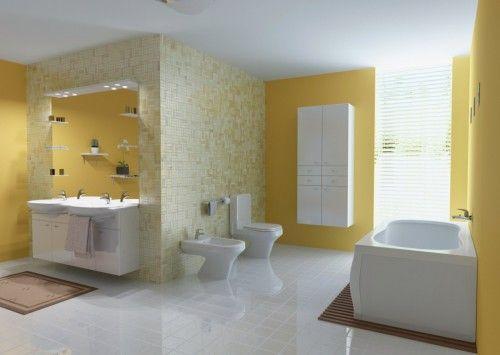 Gold color for elegant bathroom Design