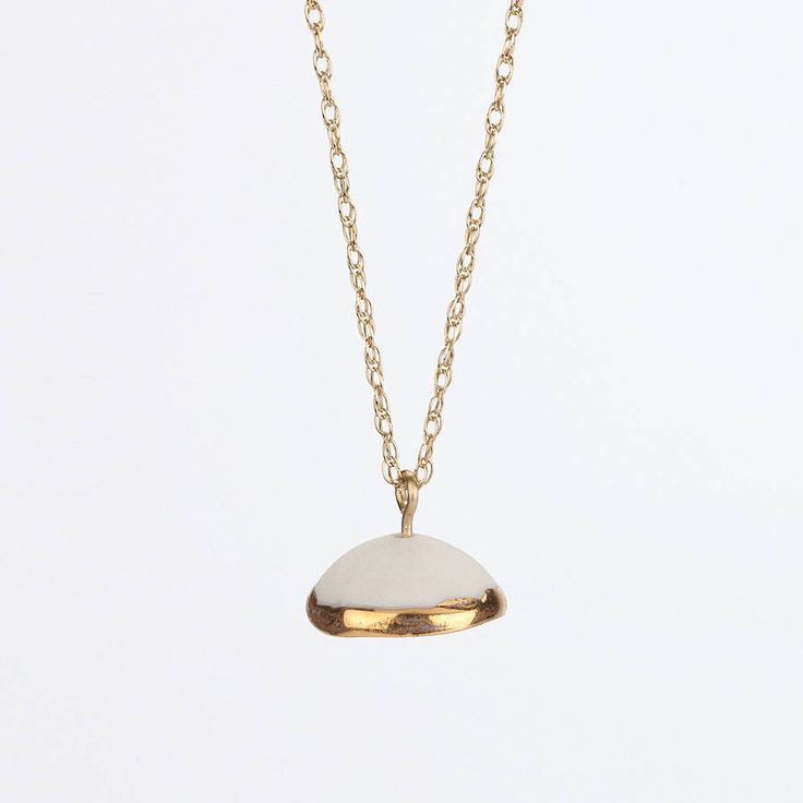 Single Dome Necklace With 9ct Gold Chain from notonthehighstreet.com