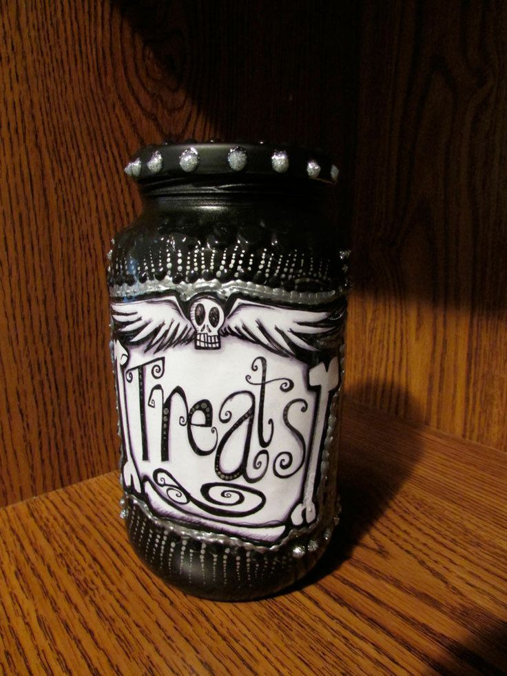 Day of the Dead Nightmare Before Christmas ZERO Halloween Treat Jar
