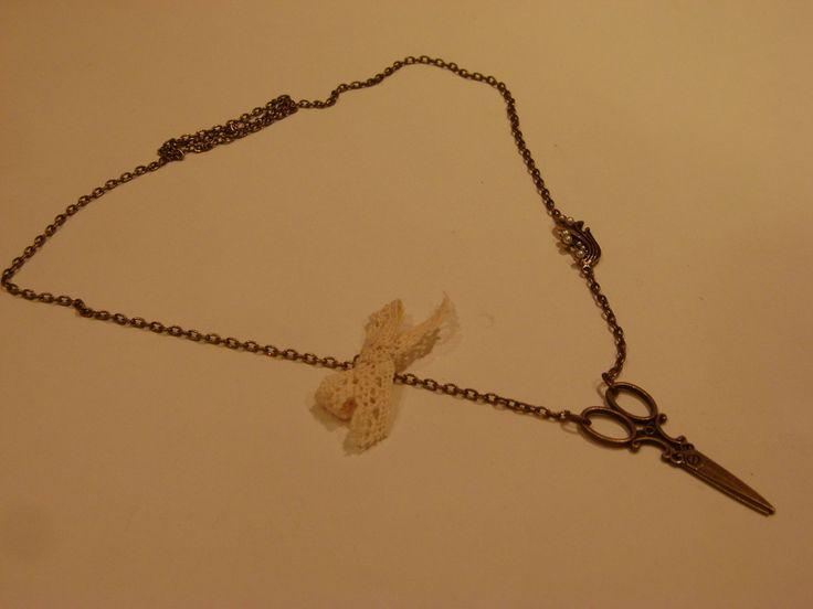 collar tijeras vintage1 de Thuytienda por DaWanda.com