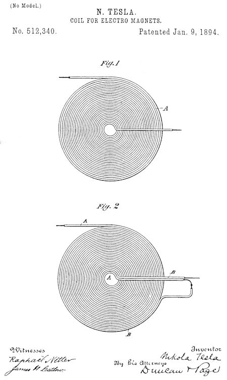 "Nikola Tesla's ""Coil for Electromagnets"""