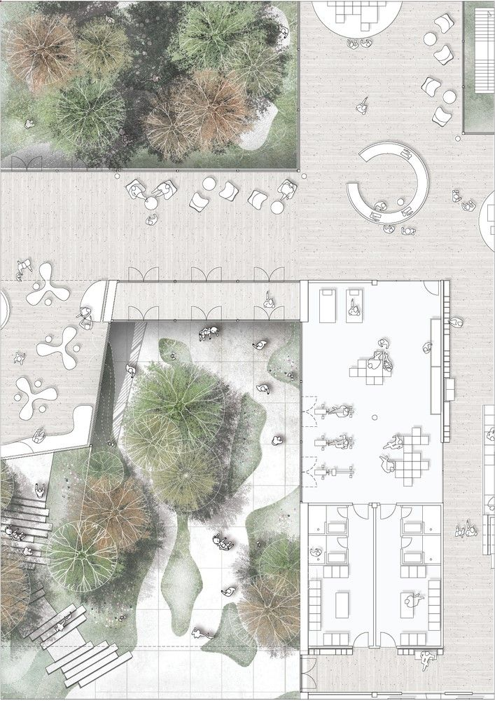 This Copenhagen Diabetes Center Connects Patients to Nature,Courtesy of Vilhelm Lauritzen Architects, Mikkelsen Architects and STED