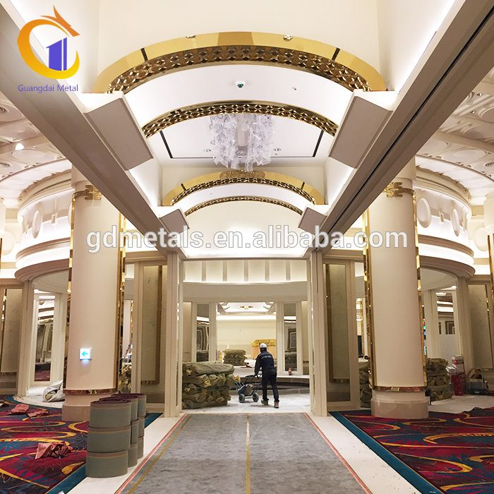 Casino Hotel Hall Luxurious Stainless Steel Metal