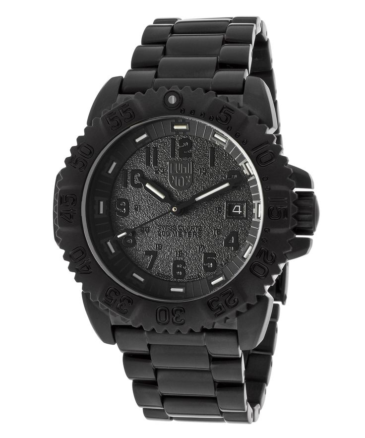 The Luminox Men's Colormark 3150 Series Black IP Stainless Steel and Dial at Bluefly.