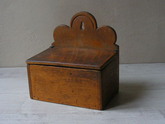 Lovely Vintage French salt and pepper plywood Box,hand-made.. $67.00, via Etsy.