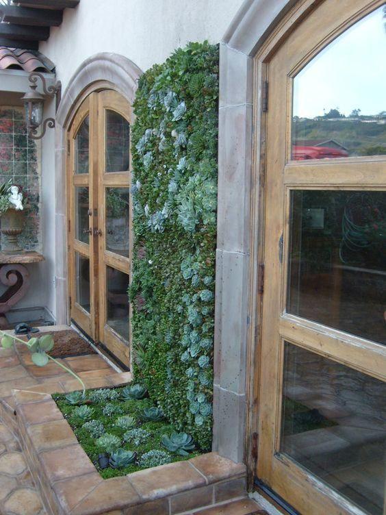 Jardin Vertical Baño:Ideas de diseños para jardines verticales Más