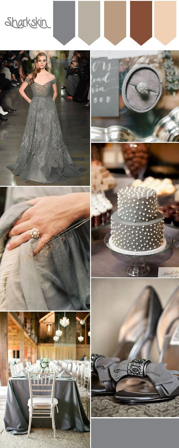 top 10 pantone fall wedding colors-sharkskin country wedding ideas