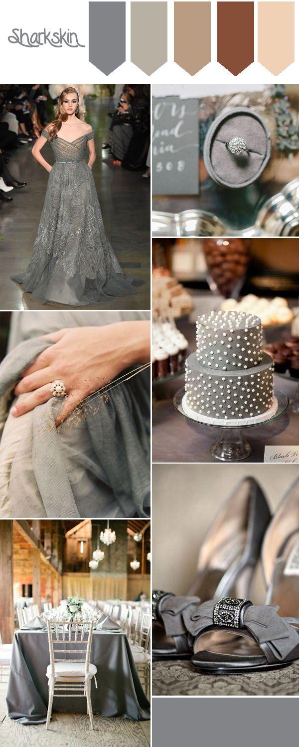 top 10 pantone fall wedding colors-sharkskin country wedding ideas