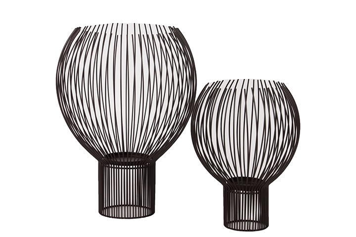 Urban Trends Collection Metal Abstract Candle Holder Set of Two UTC36011
