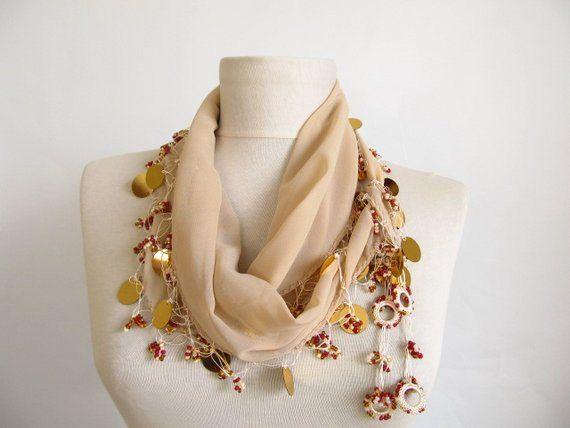 Christmas gift Turkish Oya scarf chiffon scarf scarfs or by asuhan, $22.90