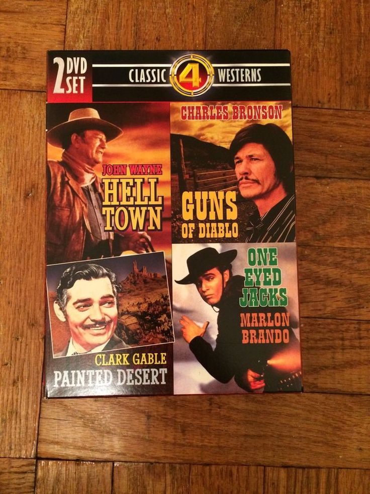 Western Movies: John Wayne, Marlon Brando, Clark Gable More! (4 Movies, 2 DVD's) | eBay  #Canada #Deals #Bargains