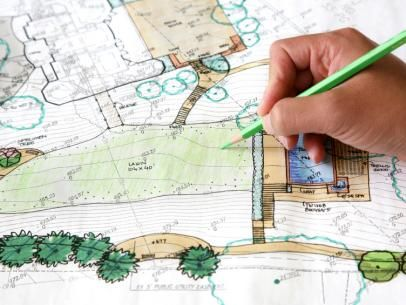 HGTVRemodels' Landscaping Planning Guide and HGTV.com offer tips for creating scale plans when designing your landscaping project.