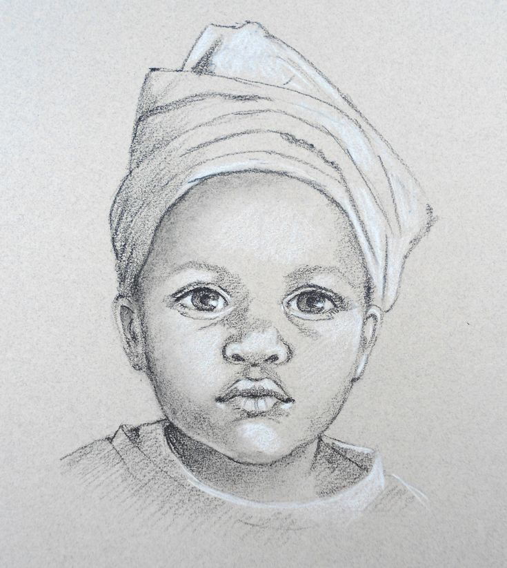 Portrait of a child from Carole Massey's 'How To Draw Portraits' at ArtTutor.
