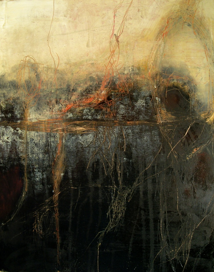 Jeane Myers/She saw only ashes, 2010. Mixed media on board
