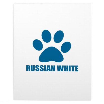 RUSSIAN WHITE CAT DESIGNS PLAQUE - cat cats kitten kitty pet love pussy