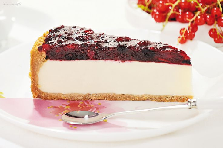 New-York Cheesecake with Wild Berries  Summer and cheerful interpretation of everyone's favorite New-York Cheesecake. Fresh and light taste of this dessert gives a thick layer of jam with pieces of natural berries: raspberries, bilberries, cowberries and blackberries.