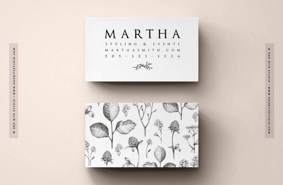 INSTANT DOWNLOAD! Photoshop files [PSD] available immediately after purchase.  This timeless beautiful business card template comes with matching